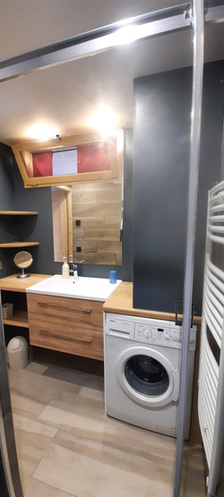 salle d'eau avec lave linge