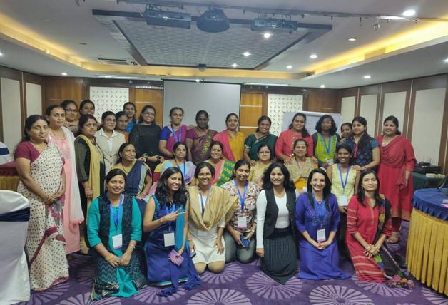 Facilitating a group of Women Bankers, Bangalore