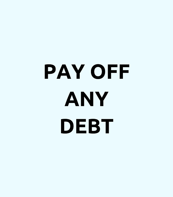 pay off any debt