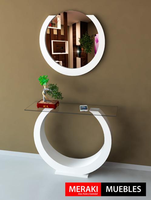 Mesa de arrime dressoire recibidor espejo eris - Mesa de recibidor ...