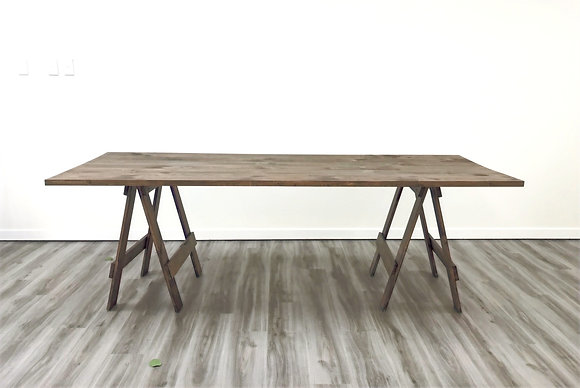 Stained Trestle Table