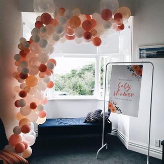 A beautiful balloon garland for a beauti