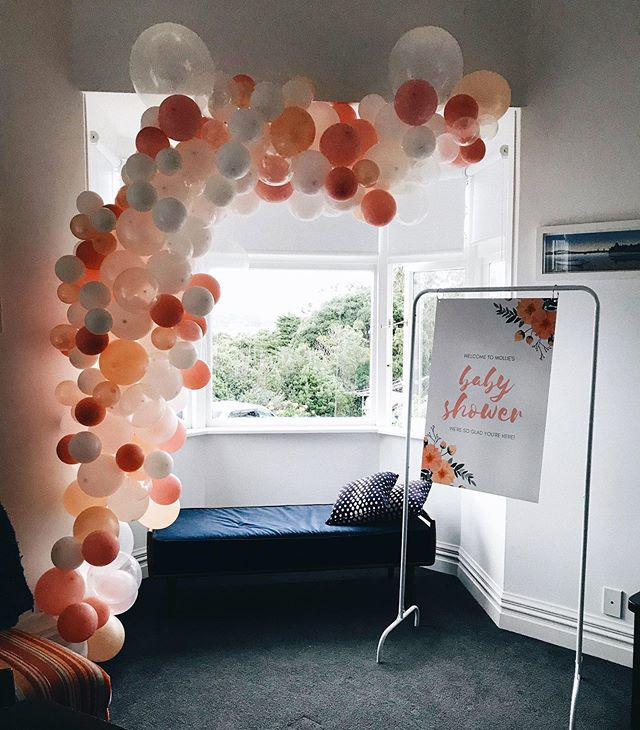 A beautiful balloon garland for a beauti