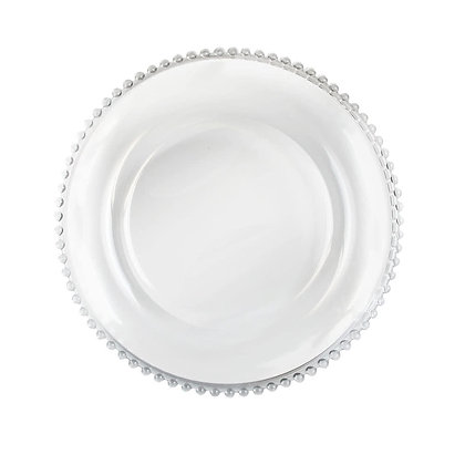 Glass Beaded Charger Plate