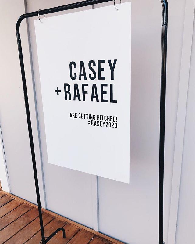 Custom signage on our brand new signage