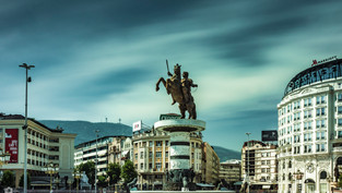 """Warrior on Horse"", Macedonia Square, Skopje, North Macedonia"