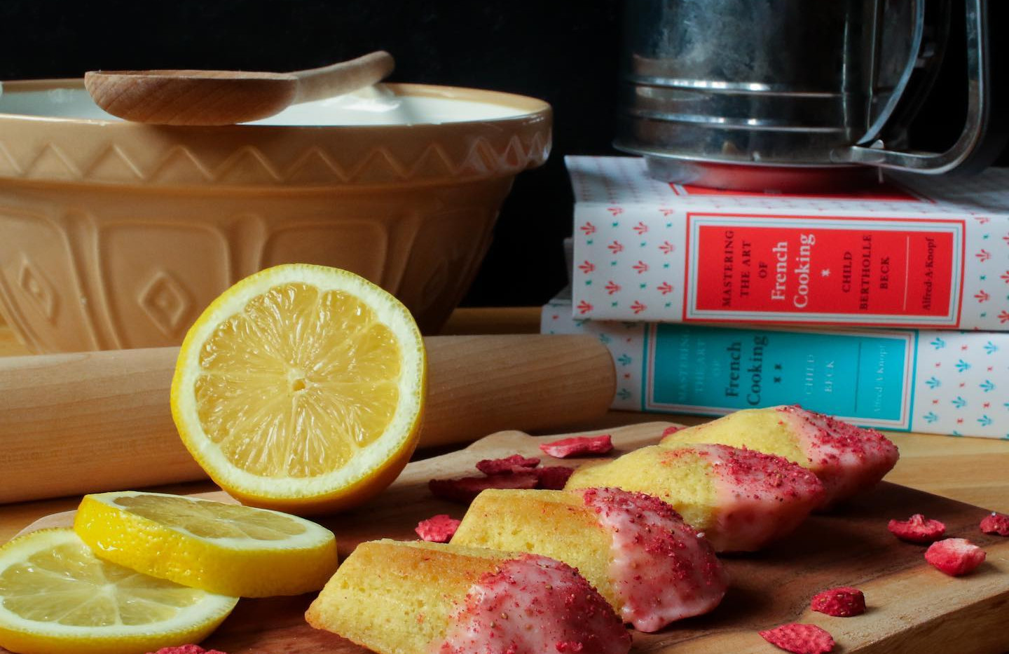 Strawberry Lemon Madelines