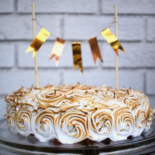 Pumpkin Chocolate Chip Cake w/ Chocolate Ganache & Marshmallow Frosting