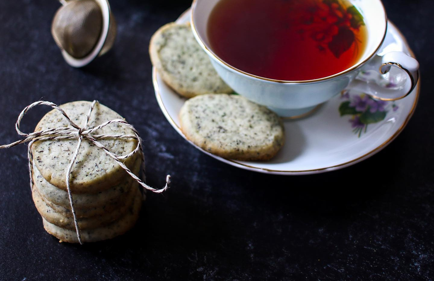 V. Lemon Earl Grey Shortbread Cookies