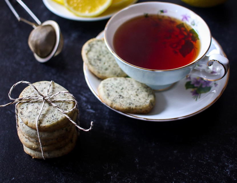 V. Lemon Earl Grey Shortbread Cookies