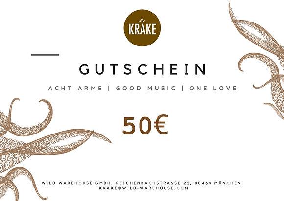 Die Krake Voucher 50€