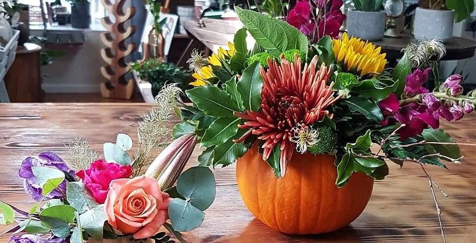 Flowers in Pumpkins