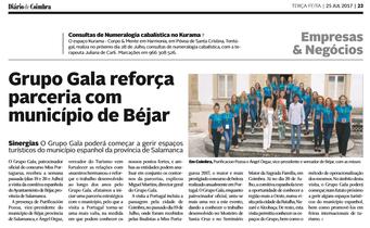Grupo Gala em destaque no Diário de Coimbra