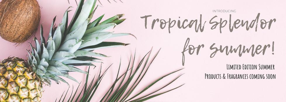 Tropical Splendor Summer Website Banner