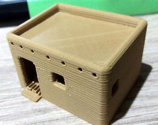 petite maison paysanne en adobe impression 3D