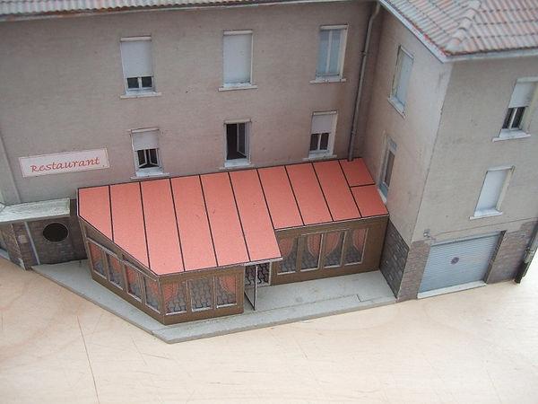 gouttières pour petits bâtiments modélisme
