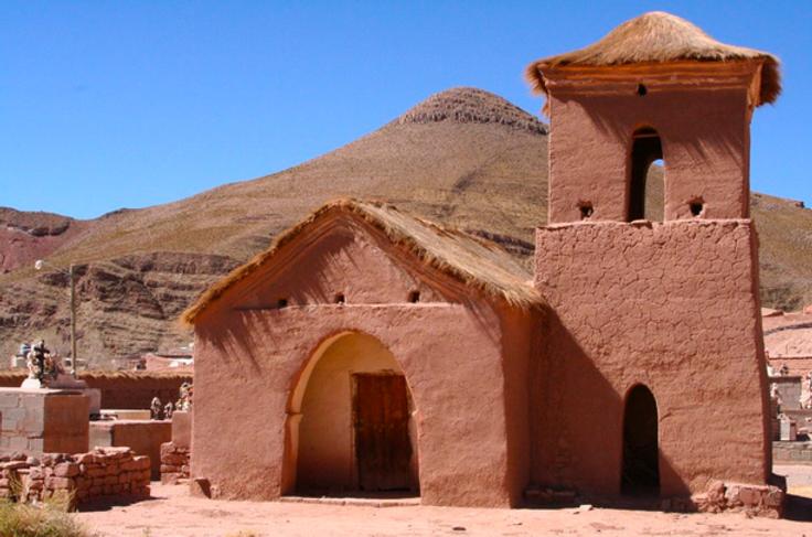 église en adobe