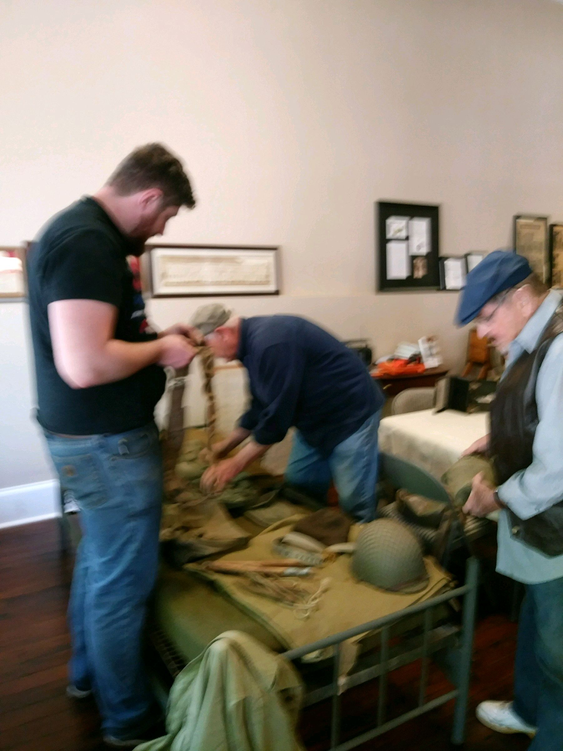 Preparing Museum DIsplay