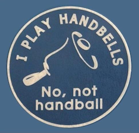 Handbells, Not Handball Decal