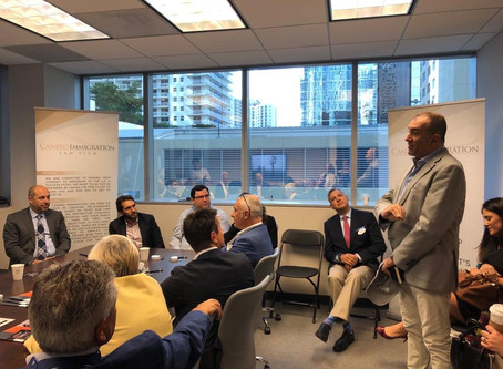 Business Breakfast @ Canero Immigration Law Firm Miami....with Italia America Chamber of Commerce So