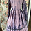 Thumbnail: 55559 Ink Splattered Silk Dress with Lace Up Front