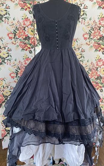 55687 Black Corset Dress
