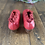 Thumbnail: Vintage Sample Red Leather and Lace Shoe