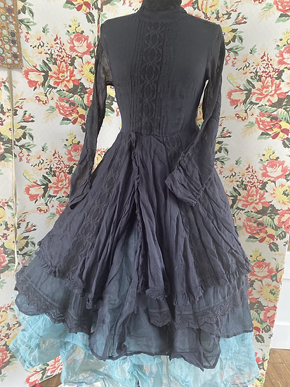 55679 Black Lace and Organdy Ballet Dress