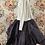 Thumbnail: 22129 black voile multi layered paper skirt