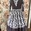 Thumbnail: 55540 Melange Tissue Silk and Organdy Three Quarter Sleeves Lace Up Corset Dress