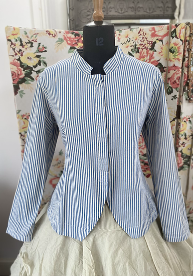 66301 Striped Ticking Cotton Canvas Corset Jacket