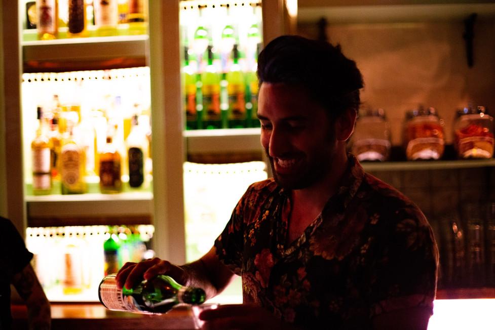 Bartender at Las Perlas Mezcal Bar West Hollywood