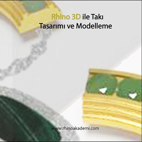 Rhino 3D ile Takı Tasarımı ve Modelleme DVD Video Eğitim Seti