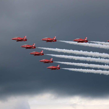 48 Red Arrows on a Stormy Day @ Sharon H