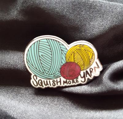 Squish More Yarn Pin