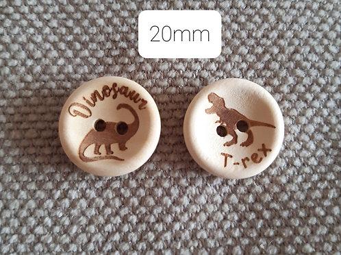 10 Dinosaur Buttons