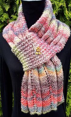 Aine Self Fastening Scarf digital knitting pattern