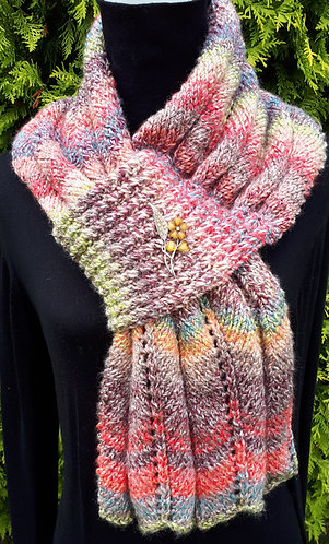 Aine Self Fastening Scarf digital knitting pattern