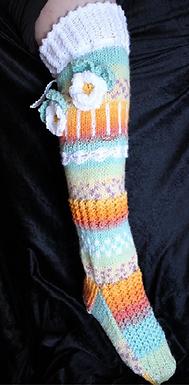 Magic Flower Socks (Digital knitting Pattern)
