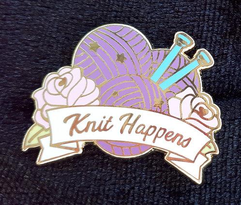 Knit Happens Badge