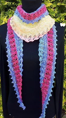 Emer Hitchhiker Scarf digital knitting pattern