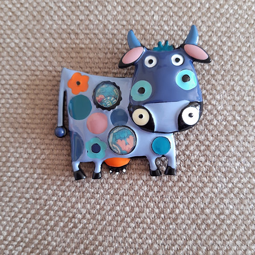 Cow Brooch