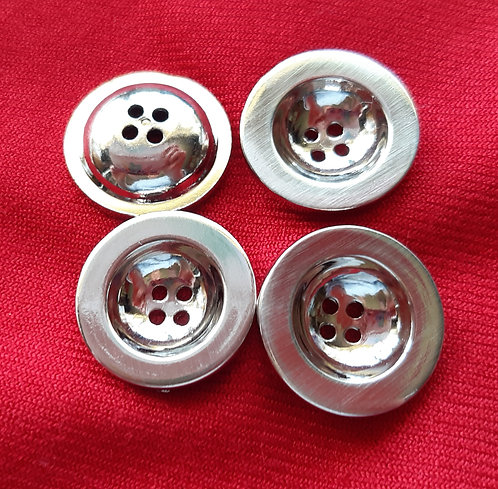 Silver effect buttons