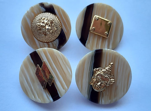 Black and Gold Buttons