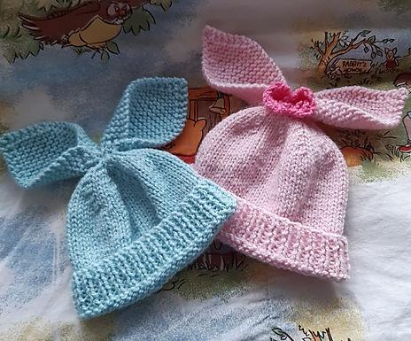 Floppy Ears Bunny Hat Digital Knitting Pattern