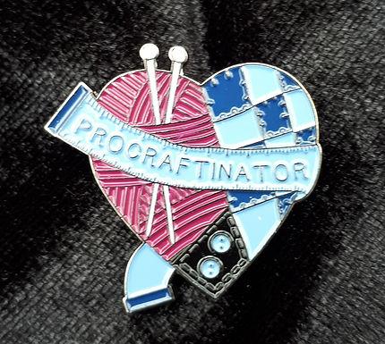 Procraftinator pin