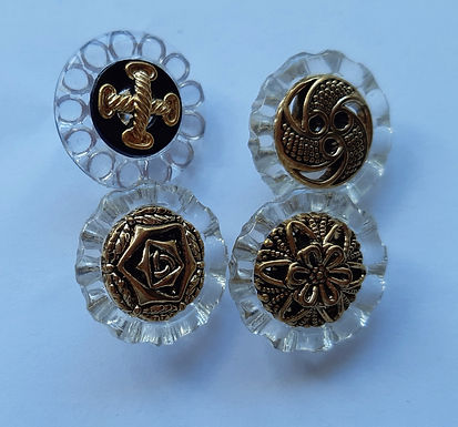 Black & Gold Buttons
