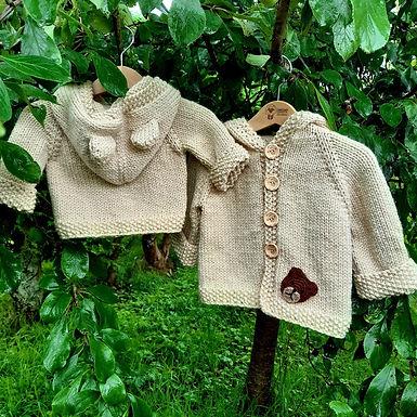 Teddy Hoodie Knitting Pattern digital