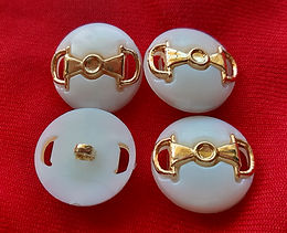 60s Style White and Gold Buttons