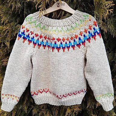 Chunky Fair Isle Sweater 2 - 3 years
